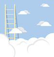 Single Ladder Through The Cloud Into The Sky vector image vector image