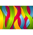 Abstract bright wavy stripes background vector image