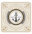 Nautical the anchor retro card vector image