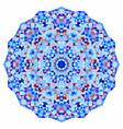 geometric mandala mosaic banner vector image