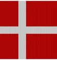 Knitted flag of Denmark vector image