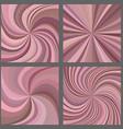 Pink spiral and starburst background set vector image