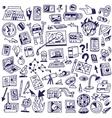 Science - big doodles set vector image