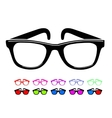 Sunglasses icon in disco style vector image