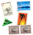 vintage african post stamps vector image