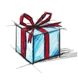 Present box with bow vector image vector image
