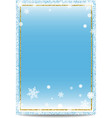 Winter vertical banner template with golden frame vector image