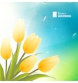 Spring card with orange tulips vector image vector image