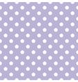 Tile white polka dots on violet background vector image