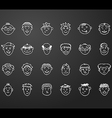 icon set 24 differents faces vector image vector image