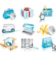 Shopping and consumerism icon set vector image