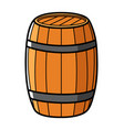 graphic of a wooden barrel vector image