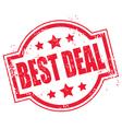 grunge best deal symbol vector image