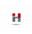 Logo H Letter company design template vector image