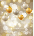 magical background with night bokeh vector image
