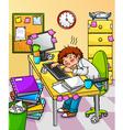 overworked worker vector image