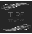 Tire tracks waving black vector image