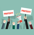 crowd of people protesters vector image