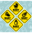 Baby on Board Signs vector image vector image
