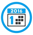 2016 Date Icon vector image