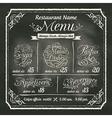Restaurant Food Menu Design Chalkboard Background vector image