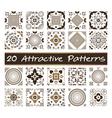 20 Attractive Patterns Art 02 vector image