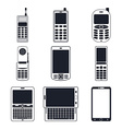 Set of mobile icon vector image