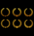 golden laurel wreaths vector image vector image