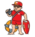 Funny lifeguard Children vector image