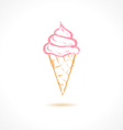 Ink Ice Cream icon vector image