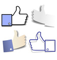Paper thumb up vector image