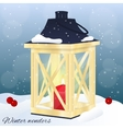 Christmas greeting card or invitation Winter vector image