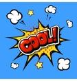 Cool Comic Speech Bubble Cartoon vector image