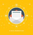 Flat design business concept E-mail marketin vector image