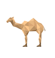 Origami camel vector image