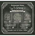 Restaurant Food Menu Design Chalkboard Background vector image