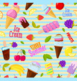 seamless summer fruits pattern colorful vector image