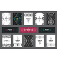 Set of geometric flyers hipster background with vector image