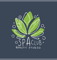 spa club healthy studio logo template emblem for vector image