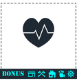 Cardiogram icon flat vector image