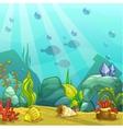 Cartoon underwater vector image