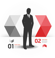 Modern Design template with business man vector image vector image