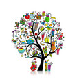 drinks collection art tree for your design vector image vector image