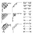 floral corner and divider collection vector image