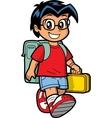 Happy Schoolboy vector image vector image