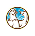 Chicken With Goose Cartoon vector image vector image