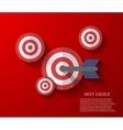 modern flat darts background Eps 10 vector image