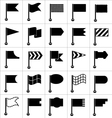 Set of black icons flags vector image vector image