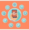 Flat concept - internet marketing vector image