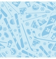 Winter sports seamless pattern with equipment flat vector image